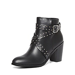 Dorothy Perkins - Black 'asha' stud heeled boot
