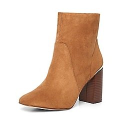 Dorothy Perkins - Tan 'amanda' wooden heel boot