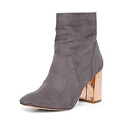 Dorothy Perkins - Grey 'amanda' metal heel boots