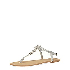 Dorothy Perkins - Silver star fish sandals