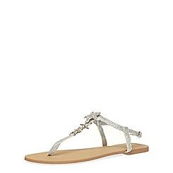 Dorothy Perkins - Silver star fish sandals