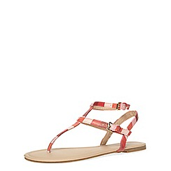 Dorothy Perkins - Pink stripe flat sandals
