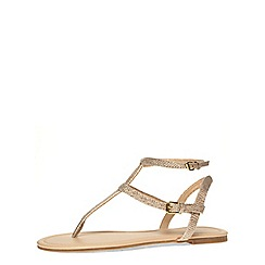 Dorothy Perkins - Gold glitter flat sandals