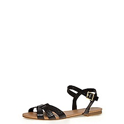 Dorothy Perkins - Black flat sandals