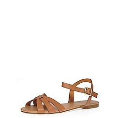 Dorothy Perkins - Tan flat sandals