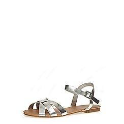 Dorothy Perkins - Silver flat sandals
