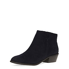 Dorothy Perkins - Navy western ankle boots