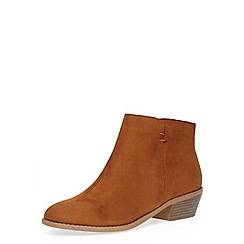Dorothy Perkins - Tan western ankle boots