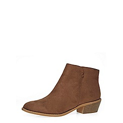 Dorothy Perkins - Mink western ankle boots