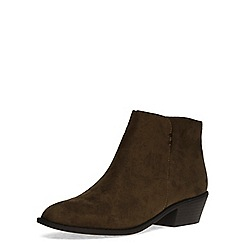 Dorothy Perkins - Khaki western ankle boots