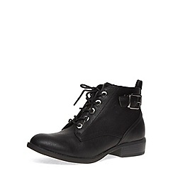 Dorothy Perkins - Black lace-up boots
