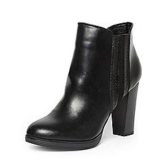 Dorothy Perkins - Black 'adrienne' platform boots