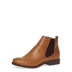 Dorothy Perkins - Tan chelsea boots