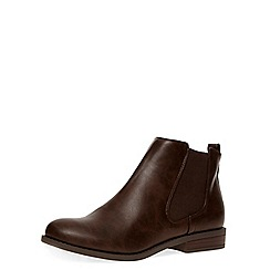 Dorothy Perkins - Chocolate chelsea boots