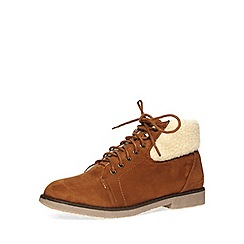 Dorothy Perkins - Chestnut lace-up boots
