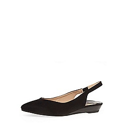 Dorothy Perkins - Black suedette sling back pointed pumps