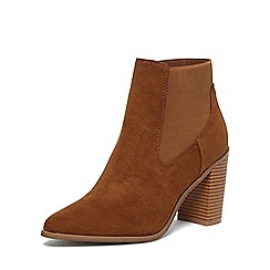 Dorothy Perkins - Tan 'alaska' pointed boots
