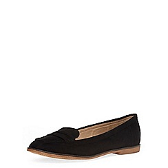 Dorothy Perkins - Black suedette flat loafers