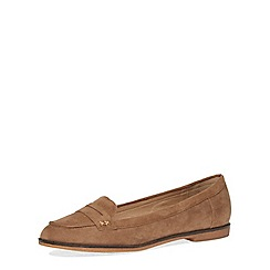 Dorothy Perkins - Tan suedette loafers