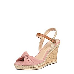 Dorothy Perkins - Pink robyn knot wedges