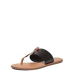 Dorothy Perkins - Black 'Frazer' toepost sandals