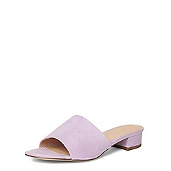 Dorothy Perkins - Lilac 'foster' heeled mules