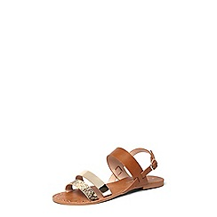 Dorothy Perkins - Tan 'Frankie' strappy sandals
