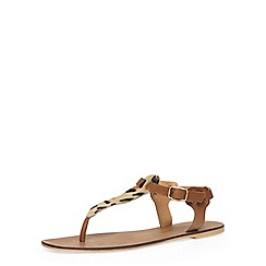 Dorothy Perkins - Leather leopard print sandals
