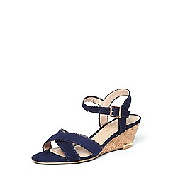 Dorothy Perkins - **Lily & franc navy 'jane' scallop wedges