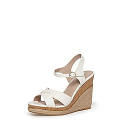 Dorothy Perkins - White 'Roxy' espadrille wedges