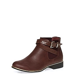 Dorothy Perkins - Oxblood ankle boots