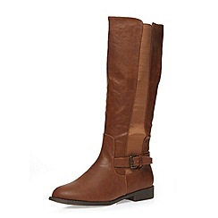 Dorothy Perkins - Tan knee-high boots