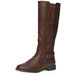 Dorothy Perkins - Chocolate knee-high boots
