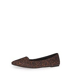 Dorothy Perkins - Leopard print flat slipper pumps