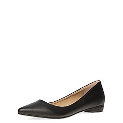 Dorothy Perkins - Black leather look cross hatch pointed pumps