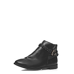 Dorothy Perkins - Black 'bumble' plaited boots