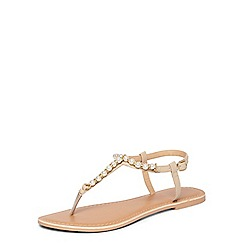 Dorothy Perkins - Nude 'Florence' pearl sandals