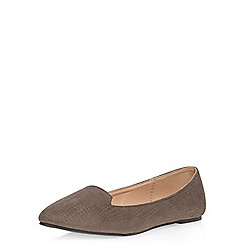 Dorothy Perkins - Grey 'pilli' slipper pumps