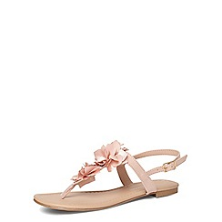 Dorothy Perkins - Nude flower corsage sandals