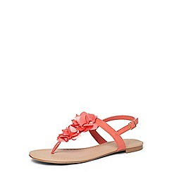 Dorothy Perkins - Coral flower corsage sandals