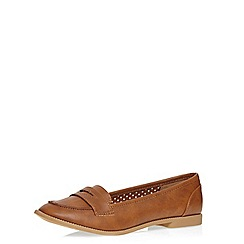 Dorothy Perkins - Tan 'lily' loafers