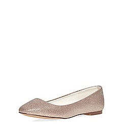 Dorothy Perkins - Gold 'pram' square toe pumps