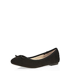 Dorothy Perkins - Black 'pips' fur lined pumps