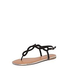 Dorothy Perkins - Black fiesta embellished sandals