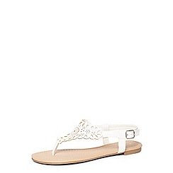 Dorothy Perkins - White floss lace effect sandals