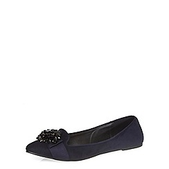 Dorothy Perkins - Navy 'heena' embellished pumps
