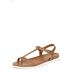 Dorothy Perkins - Tan flamingo comfort footbed sandals