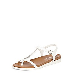 Dorothy Perkins - White flamingo comfort footbed sandals