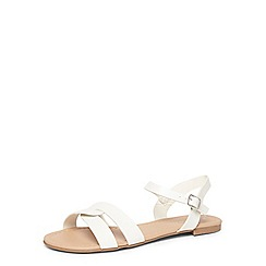 Dorothy Perkins - White flash' flat sandals