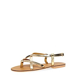 Dorothy Perkins - Gold leather spring sandals